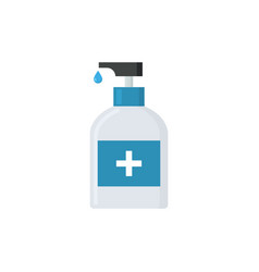 Alcohol hand disinfection soap icon coronavirus vector