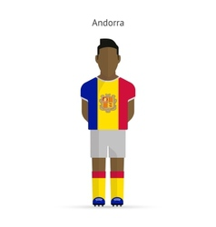 Andorra football player soccer uniform vector