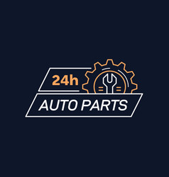 auto parts store company badge design stock vector image