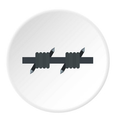 barbed wire icon circle vector image