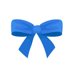 big bright blue bow holiday symbol beautiful vector image