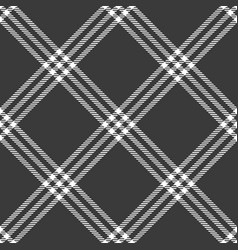 Black cage rhombus check plaid fabric swatch vector