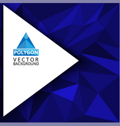 Blue polygon abstract background vector