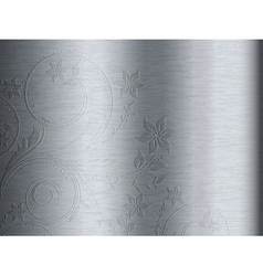 brushed metal vector image