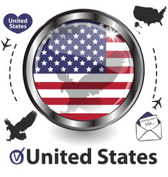 card with united states vector image