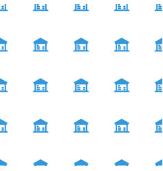 cargo barn icon pattern seamless white background vector image