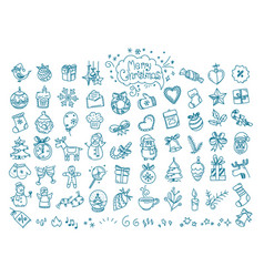Christmas doodle elements clipart vector