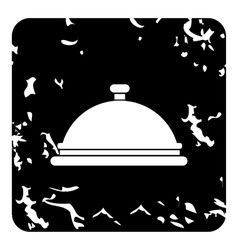Cloche icon grunge style vector