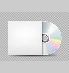 Compact disc white cover transparent vector