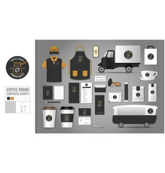 corporate identity template set 17 vector image