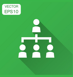 Corporate organization chart with business people vector