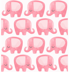 Cute elephant pattern seamless background vector