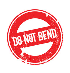 Do not bend rubber stamp vector