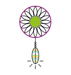 Dream catcher hippie style vector