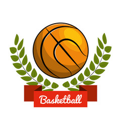 emblem play basketball icon vector image