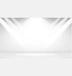 empty white photo studio interior background vector image