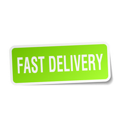 Fast delivery square sticker on white vector