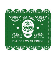 Festive mexican banner card with floral vector