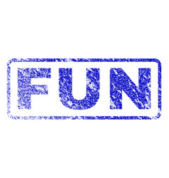 fun rubber stamp vector image