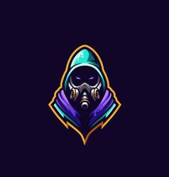 Gas mask logo premium vector