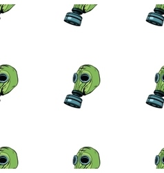Gas mask seamless pattern vector