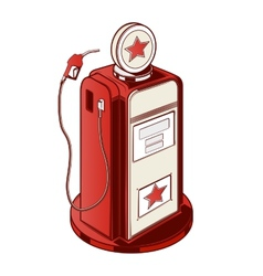 Gasoline station pump vector image