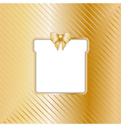 Gold Christmas backgound with cut out gift vector