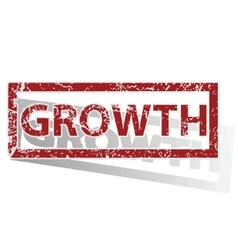GROWTH outlined stamp vector