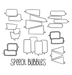 Hand-drawn speech bubbles-02 vector