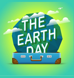 happy earth day world environment day concept vector image