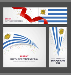 Happy uruguay independence day banner and vector