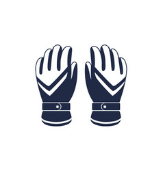 Hiking winter gloves isolated icon vector