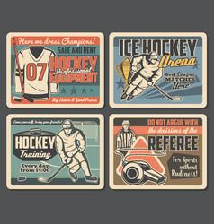 Ice hockey sport training team league match vector
