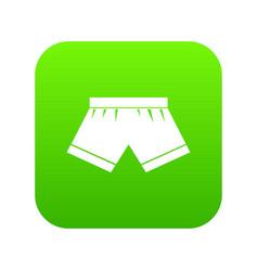 Male underwear icon digital green vector