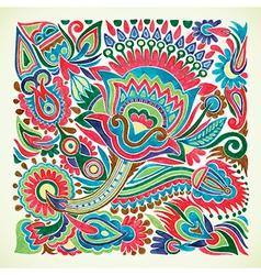 marker flower ethnic design vector image