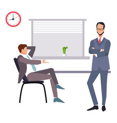 modern flat character design on businessman vector image