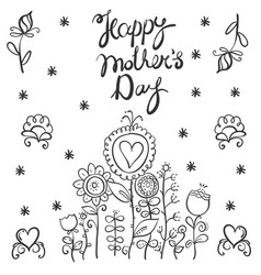 mother day style with flower vector image