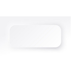 neumorphic rectangle blank banner copy space vector image