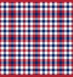 Patriotic tartan white blue red seamless vector