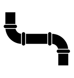 pipe icon black color flat style simple image vector image