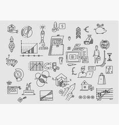 Planning office earnings development vector