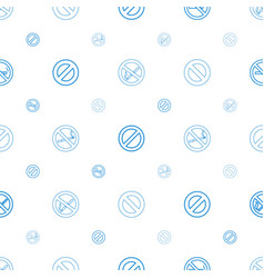 Prohibit icons pattern seamless white background vector