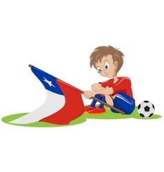 Sad chile soccer fan vector