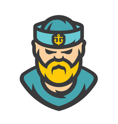 Sailor man cartoon vector