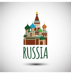 Saint Basil cathedral Russia Moscow vector image