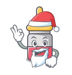 santa nassal drop mascot cartoon vector image