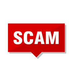 Scam red tag vector