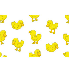 seamless pattern with ducklings vector image