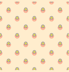 seamless simple geometric flowers pattern vector image
