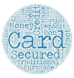 Secured Credit Cards text background wordcloud vector image